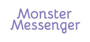logo1-violet_transparency-monster-messenger